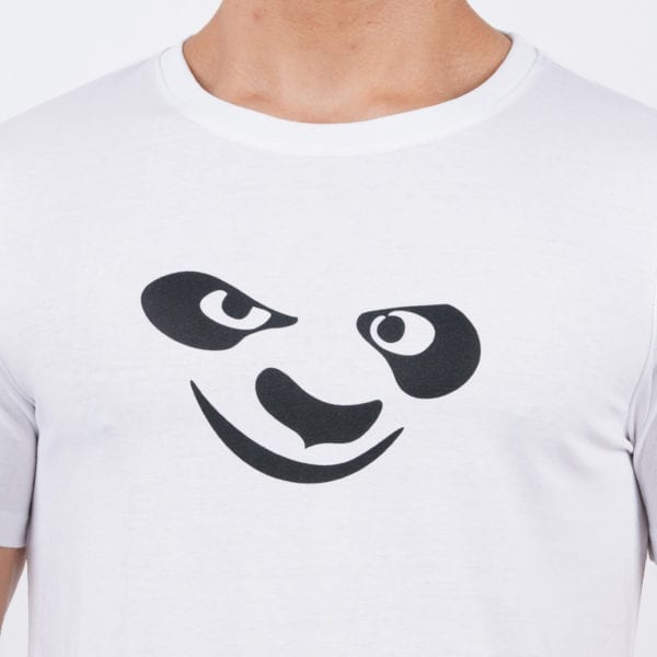 Graphic Printed Round neck Kungfu Panda White T Shirt Print