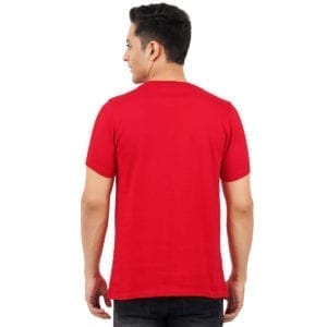 Typography Mens Round neck CEO Red T Shirt Back