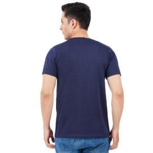 Printed Mens Round or Crew neck Amazing Navy T Shirt Back