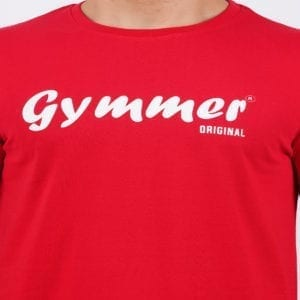 Typography Mens Round neck Gymmer Red T Shirt Print