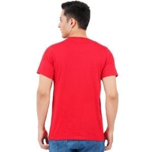 Printed Round or Crew neck Foodie Red T Shirt Back