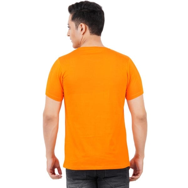 Graphic Printed Round neck Stay Young Orange TShirt back