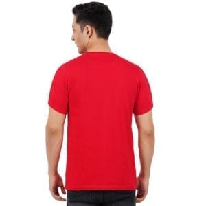 Typography Mens Round neck Amazing Red T Shirt Back
