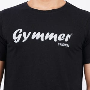 Graphic Mens Printed Round neck Gymmer Black T Shirt Print