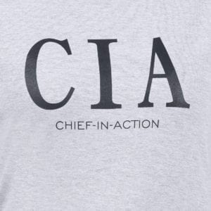 Typography Round neck CIA Grey Melange Womens T Shirt Print