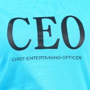 Graphic Printed Round neck CEO Blue Womens T Shirt Print
