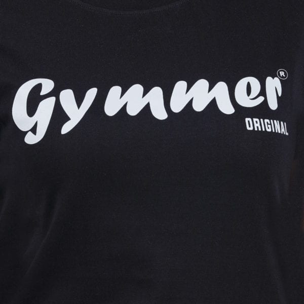 Graphic Printed Round neck Gymmer Black Womens T Shirt Print