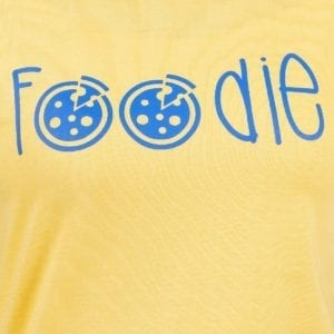 Printed Round neck Foodie Yellow Womens T Shirt Print