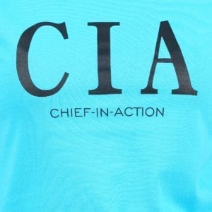 Graphic Printed Round neck CIA Blue Womens T Shirt Print